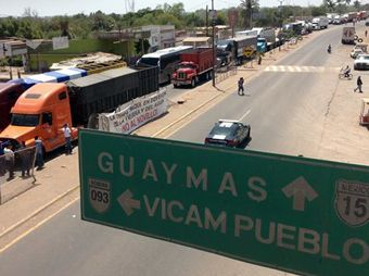 Bloqueos en Vícam cumplen tres meses