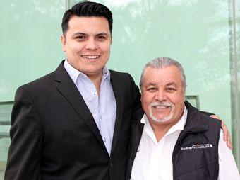Colibrí Maldonado y Oscar Iribe, cumpleañero el pasado 22 de septiembre.