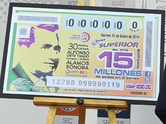 Emite Lotería Nacional billete conmemorativo del FAOT