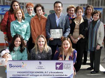 Entrega Progreso por Sonora donativo a Instituto IRIS