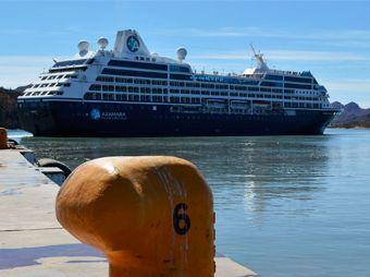 """Recibió Guaymas al """"Azamara Quest"""", primer crucero del año"""