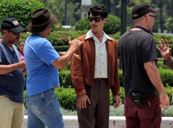 """Oscar Jaenada como Mario Moreno """"Cantinflas""""."""