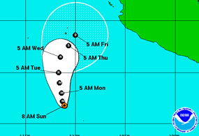 Huracán Amanda podría volverse Tormenta Tropical el miércoles