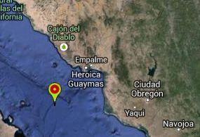 Registra Guaymas sismo de 3.9 grados
