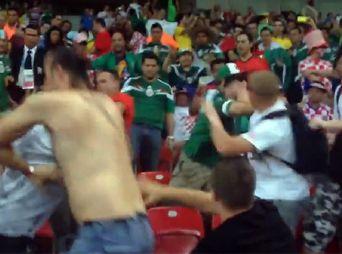 Lo que no se vio: Aficionados mexicanos y croatas se agarraron a golpes