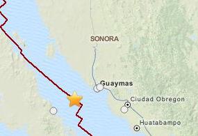 Registra Guaymas y Hermosillo sismo de 5.4 grados