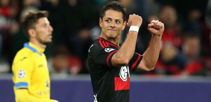 El primer gol del Chicharito con el Bayer