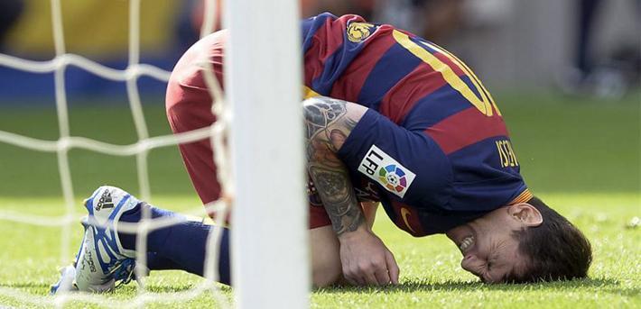 La lesión de Messi que lo dejará fuera 2 meses