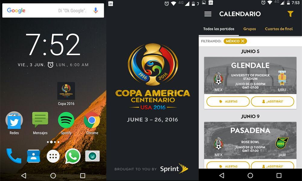 Revisamos la app de la Copa América Centenario