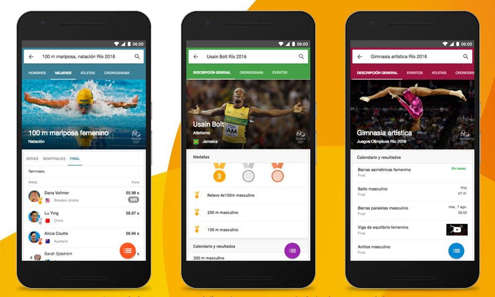Google lanza herramienta para seguir los Juegos Olímpicos