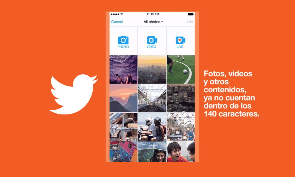 Vídeos, fotos, gif y encuestas ya no restan caracteres en Twitter