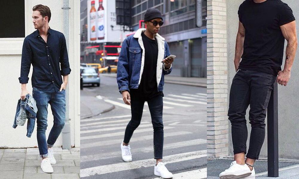 3 Outfits con tenis blancos para hombre ¡Muy originales!