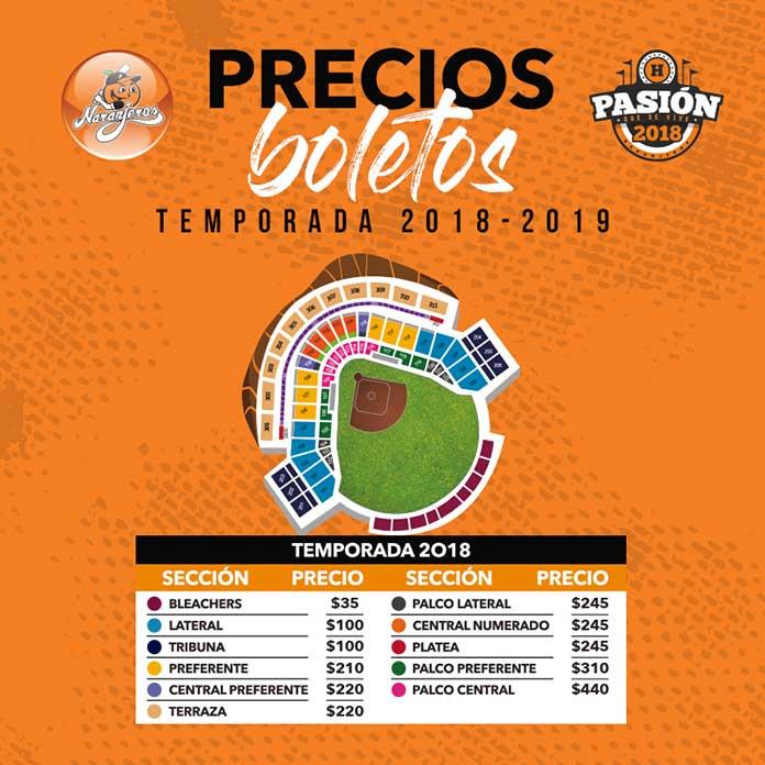 Boletos para Naranjeros de Hermosillo